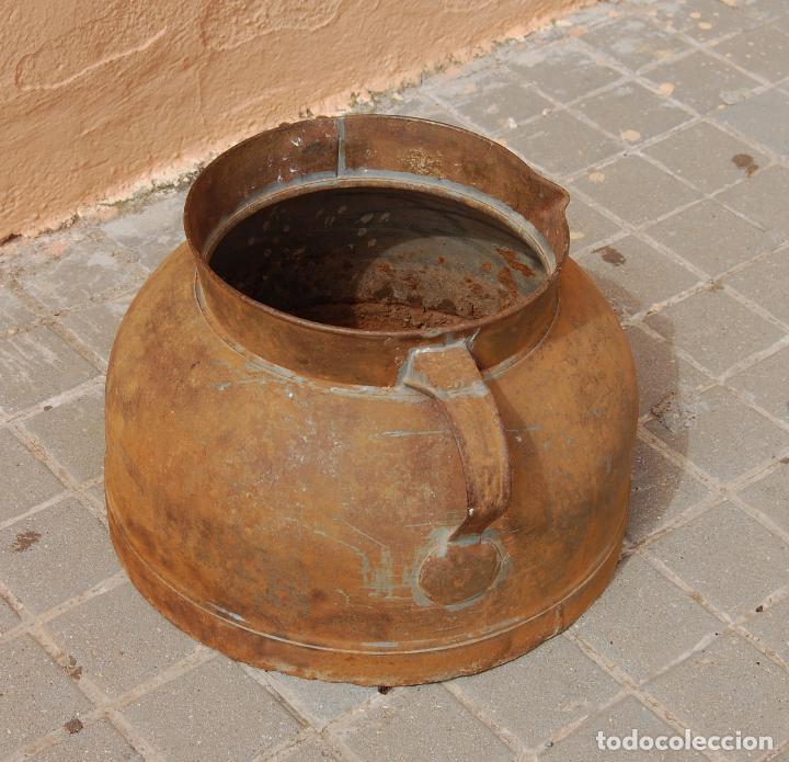 Antigüedades: TARRO ANTIGUO DE ORDEÑO DE CHAPA - Foto 5 - 118753655
