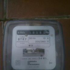 Antigüedades: ANTIGUO CONTADOR TIPO BTR7 MONOFASICO 2 HILOS. Lote 118756587