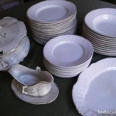 Antigüedades - Antigua vajilla de Porcelana Opaca de Sevilla. - 118765639