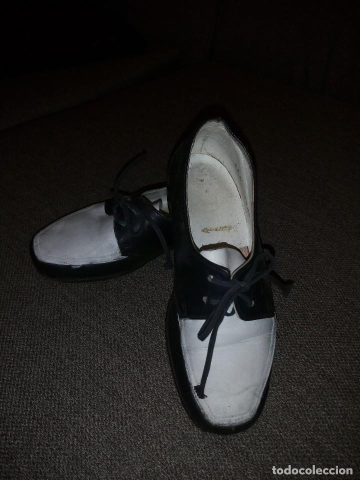 Antigüedades: antiguos zapatos de niño nº 25 en piel dos colores principios del siglo xx - Foto 2 - 118768199