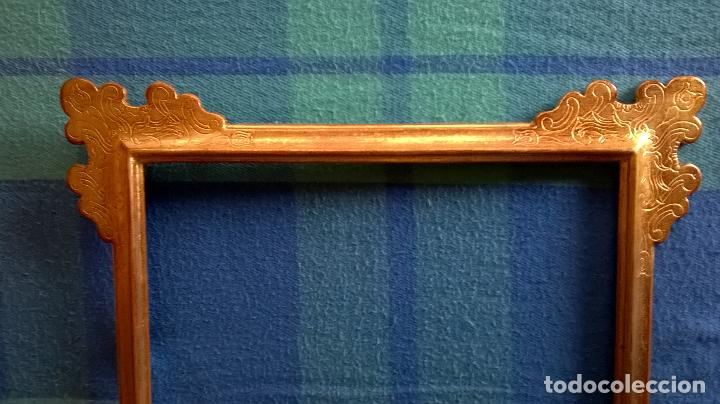 marco de madera dorada.medida interior 35,7 x 4 - Comprar Marcos ...