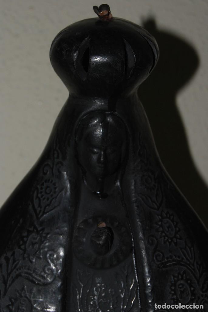 Antigüedades: VIRGEN DE BARRO O TERRACOTA - FIGURA - AÑOS 60-70 - Foto 2 - 118783491