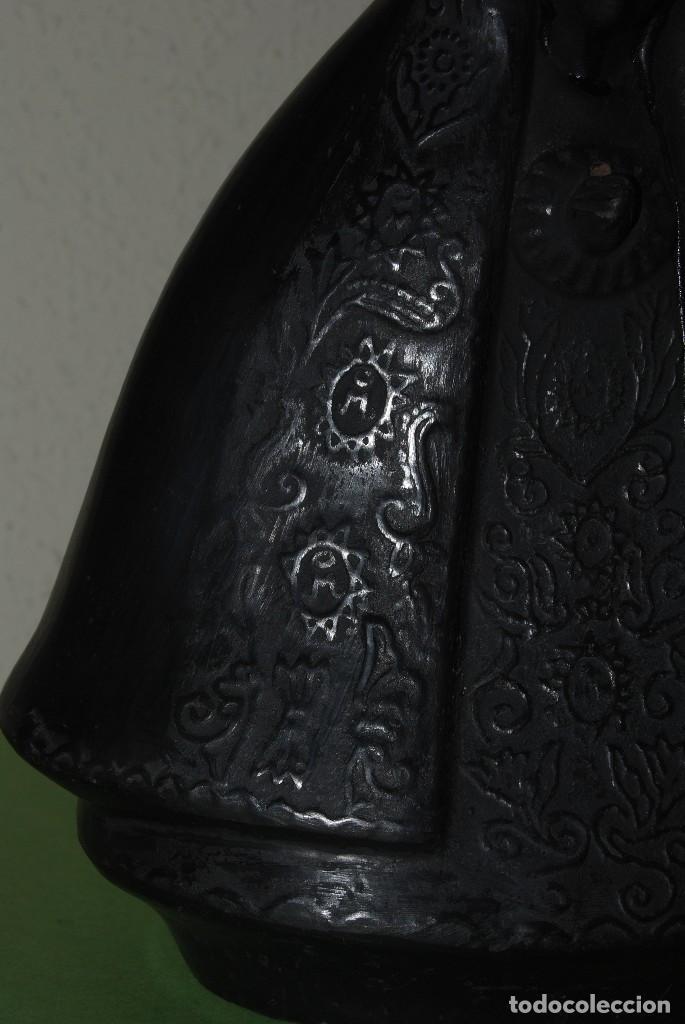 Antigüedades: VIRGEN DE BARRO O TERRACOTA - FIGURA - AÑOS 60-70 - Foto 3 - 118783491