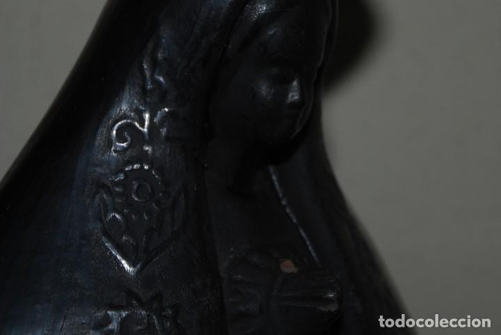 Antigüedades: VIRGEN DE BARRO O TERRACOTA - FIGURA - AÑOS 60-70 - Foto 11 - 118783491