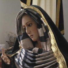 Antigüedades: JUEGO ROSTRILLO O TOCADO Y FAJIN EN 3 PIEZAS PARA VIRGEN HEBREA DE VESTIR TAMAÑO NATURAL. Lote 158366876