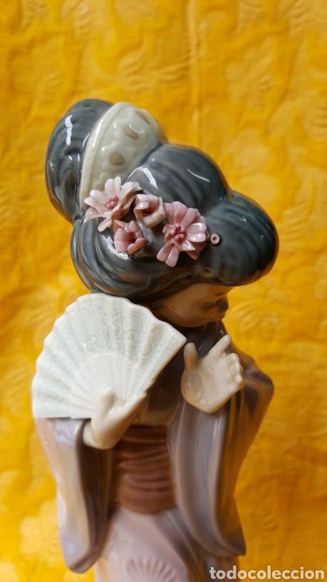 Antigüedades: FIGURA DE GEISHA DE PORCELANA DE LLADRÓ - Foto 6 - 118798980