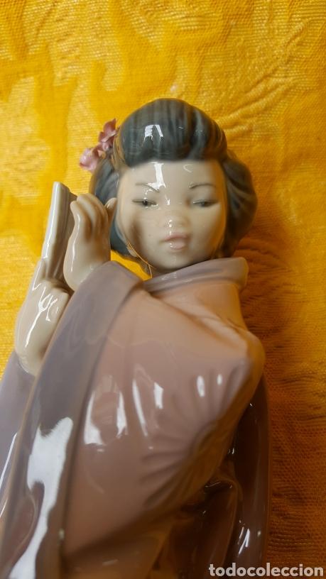 Antigüedades: FIGURA DE GEISHA DE PORCELANA DE LLADRÓ - Foto 11 - 118798980