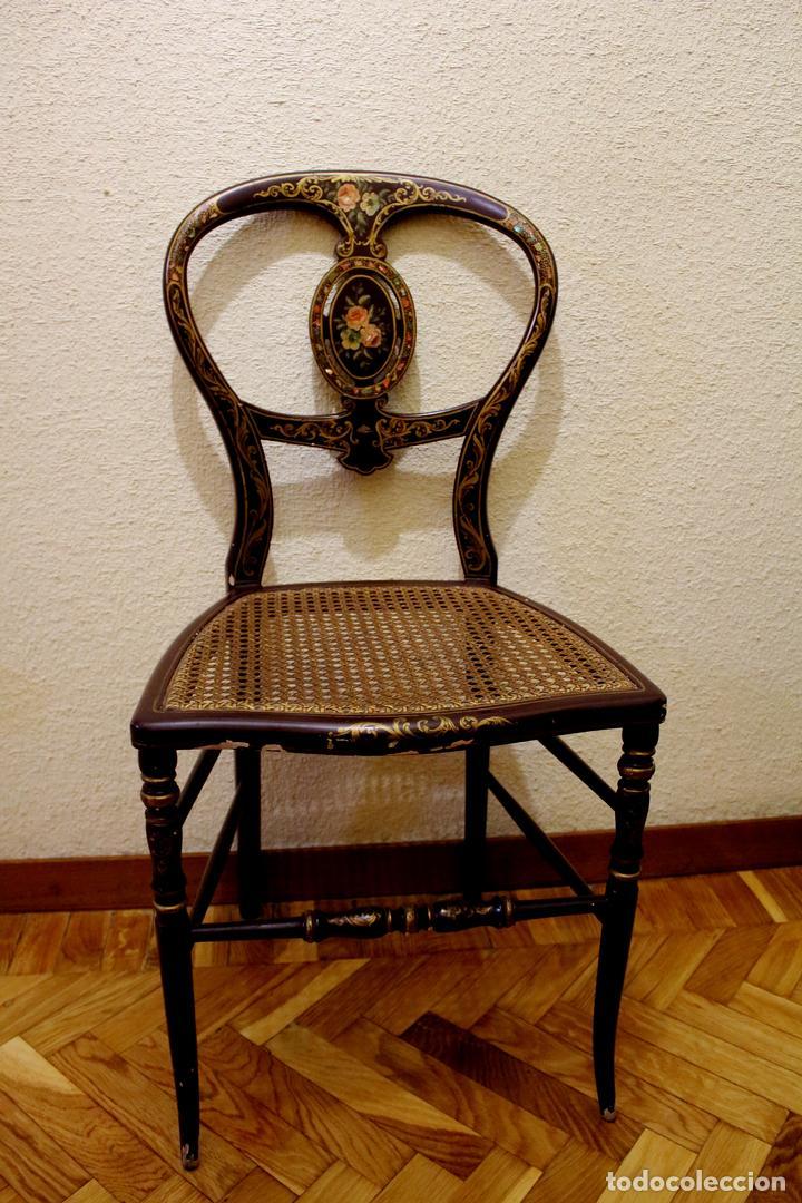 SILLA MADERA (Antigüedades - Muebles Antiguos - Sillas Antiguas)
