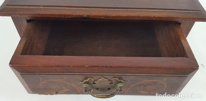 Antigüedades: JOYERO. MADERA DE CAOBA CON INCRUSTACIONES. IMPERIO. ESPAÑA. SIGLO XVIII-XIX. - Foto 7 - 118820075
