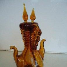 Antigüedades: ACEITERA DOBLE CRISTAL SOPLADO. Lote 118821299