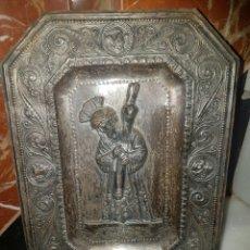 Antigüedades: PLACA EN RELIEVE DE NUESTRO PADRE JESUS DEL GRAN PODER. Lote 118824336