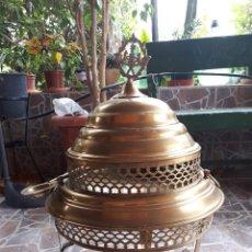 Antigüedades: ANTIGUO BRASERO DE LATON. Lote 118833755
