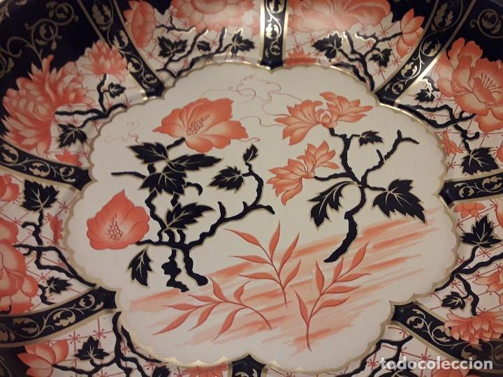 Antigüedades: Frutero de metal motivos florales Daher Decoration Ware England - Foto 2 - 118841403
