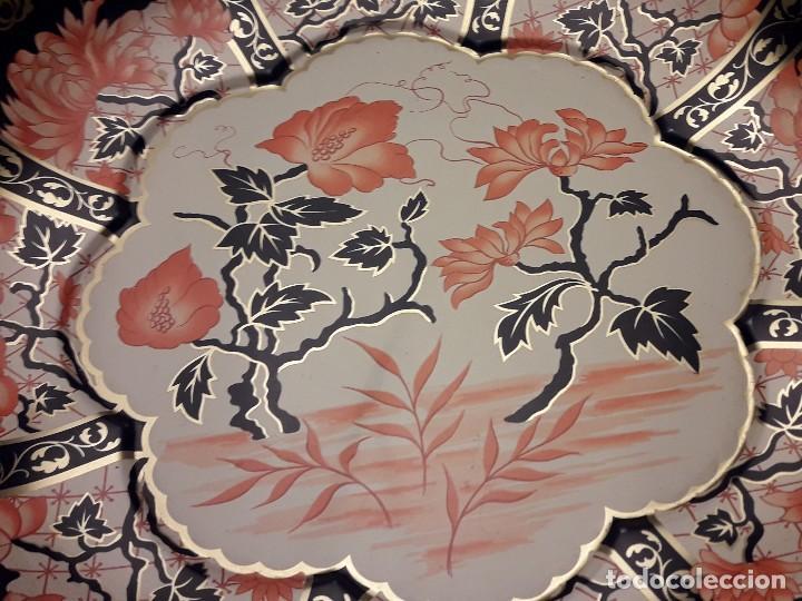 Antigüedades: Frutero de metal motivos florales Daher Decoration Ware England - Foto 6 - 118841403