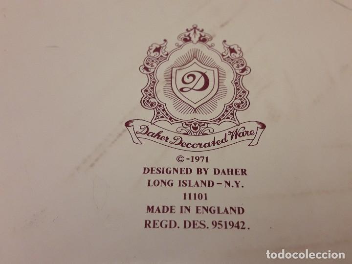 Antigüedades: Frutero de metal motivos florales Daher Decoration Ware England - Foto 8 - 118841403