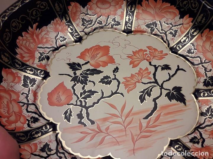 Antigüedades: Frutero de metal motivos florales Daher Decoration Ware England - Foto 9 - 118841403