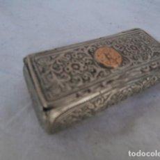 Antigüedades: CAJITA EN PLATA DE LEY Y ORO SIGLO XVII ESPAÑOLA O COLONIAL. Lote 118848283