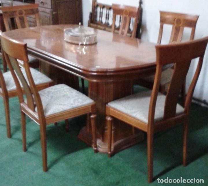 comedor de raiz con seis sillas tapiazadas mesa - Comprar Mesas ...