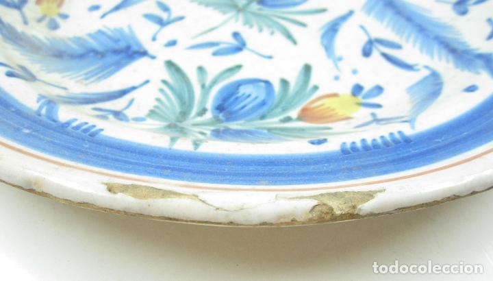 Antigüedades: Plato de manises. 29 cm diámetro - Foto 2 - 118890939