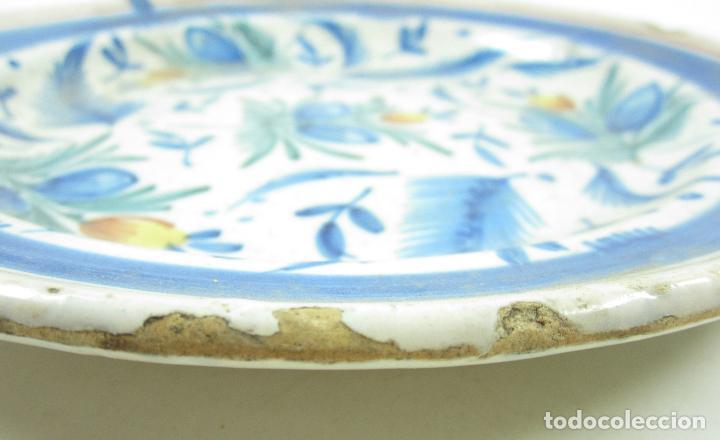 Antigüedades: Plato de manises. 29 cm diámetro - Foto 3 - 118890939