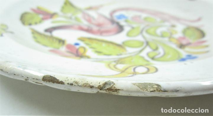 Antigüedades: Plato de manises. 31 cm diámetro - Foto 2 - 118891075