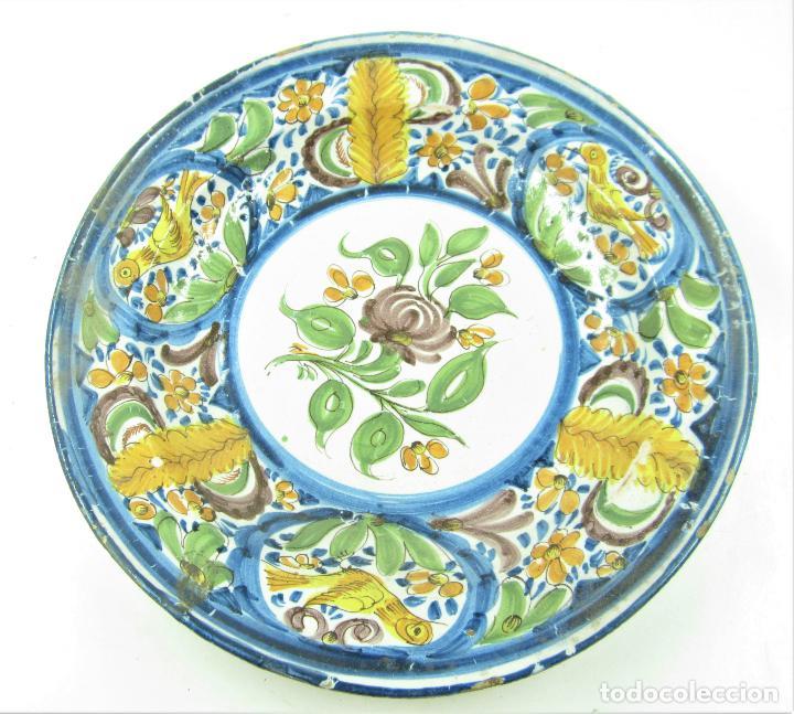PLATO DE MANISES. 34 CM DIÁMETRO (Antigüedades - Porcelanas y Cerámicas - Manises)