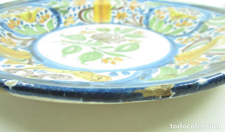 Antigüedades: Plato de manises. 34 cm diámetro - Foto 2 - 118891575
