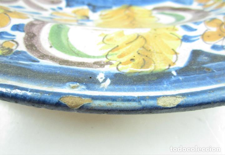 Antigüedades: Plato de manises. 34 cm diámetro - Foto 4 - 118891575