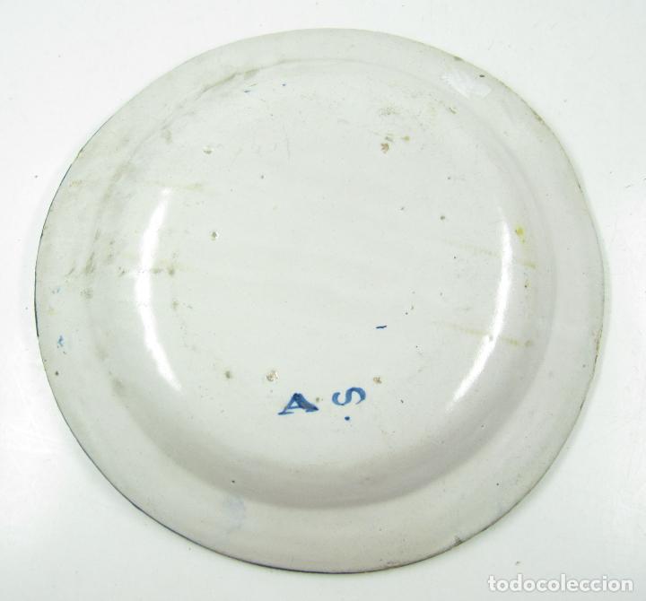 Antigüedades: Plato de manises. 34 cm diámetro - Foto 5 - 118891575