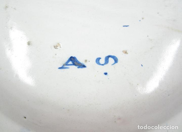 Antigüedades: Plato de manises. 34 cm diámetro - Foto 6 - 118891575