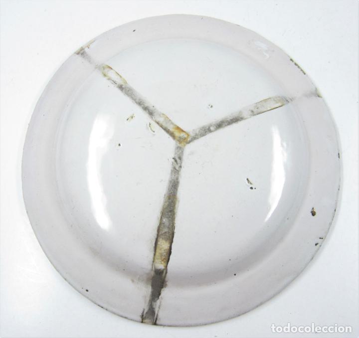 Antigüedades: Plato de manises. 33,5cm diámetro - Foto 2 - 118891743