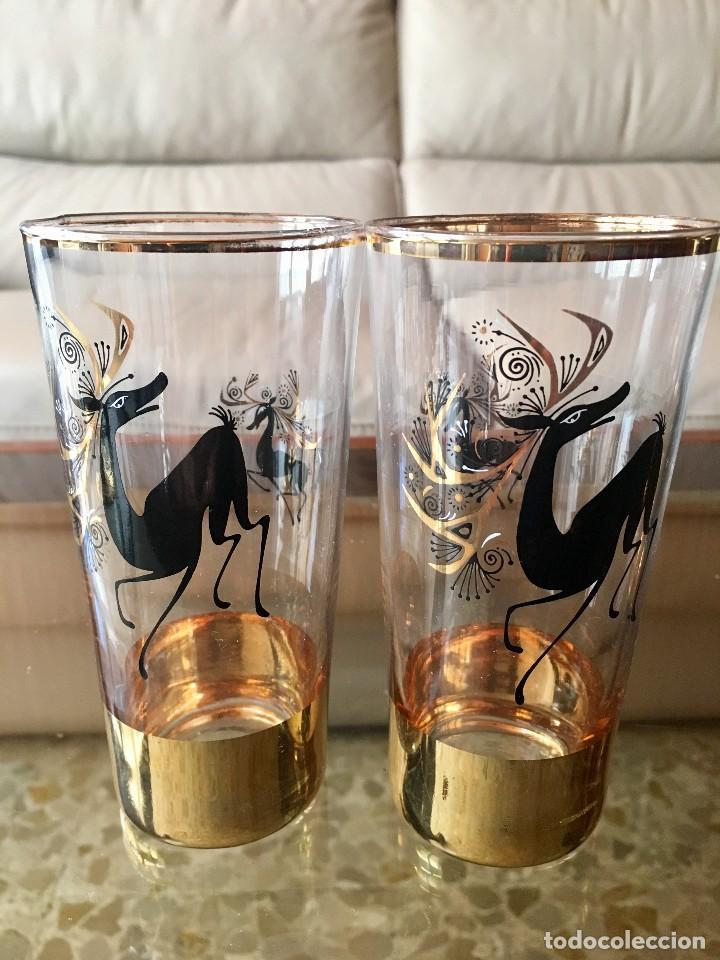 Antigüedades: Cristalería vintage ciervos años 60 - Foto 3 - 118894031