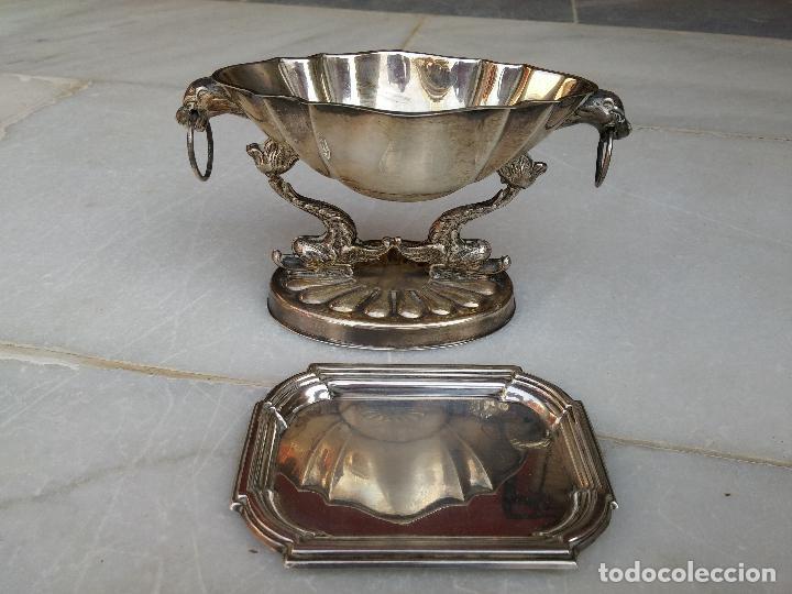 1521a281fe68 Antiguo centro de mesa y plato de plata español - Vendido en Venta ...