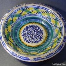 Antigüedades: ROTUNDO LEBRILLO CERÁMICA DE TRIANA XIX . Lote 118901455