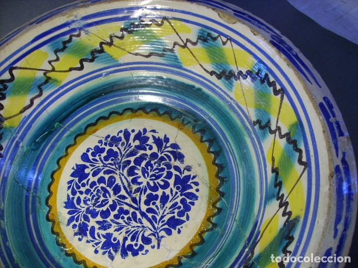 Antigüedades: ROTUNDO LEBRILLO CERÁMICA DE TRIANA XIX - Foto 4 - 118901455