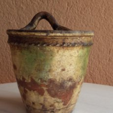 Antigüedades: CUCHARERO EN CERÁMICA CATALANA OLOT (GIRONA ). Lote 118908339