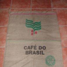 Antigüedades: SACO DE ARPILLERA O YUTE DE CAFÉ DE BRASIL. Lote 194634658