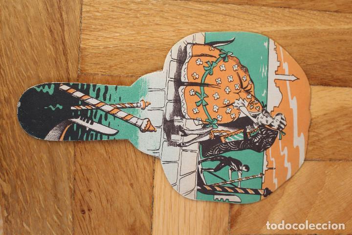 Antigüedades: Lote de tres abanicos de papel tipo Pai Pai publicidad española años treinta y cincuenta - Foto 4 - 118930863