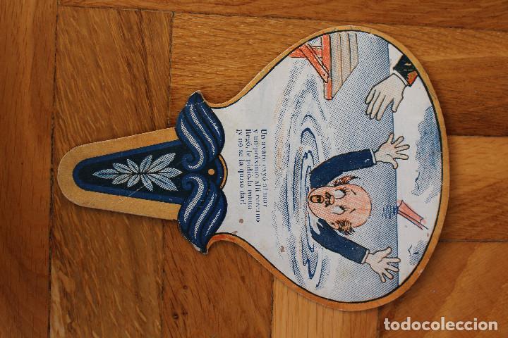 Antigüedades: Lote de tres abanicos de papel tipo Pai Pai publicidad española años treinta y cincuenta - Foto 5 - 118930863