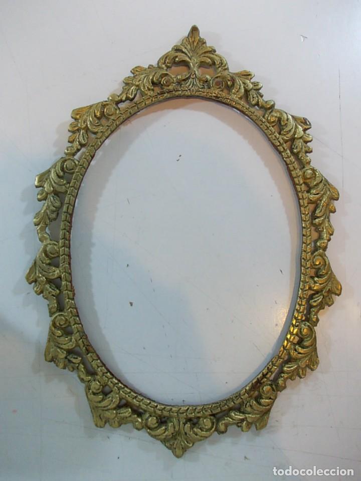 antiguo marco ovalado tipo camafeo en bronce - Comprar Marcos ...