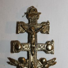 Antigüedades: CRUZ RELICARIO DE CARAVACA EN BRONCE DEL SIGLO XX. Lote 118934251