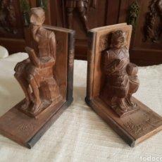 Antigüedades: SUJETA LIBROS DON QUIJOTE Y SANCHO PANZA. Lote 118937007