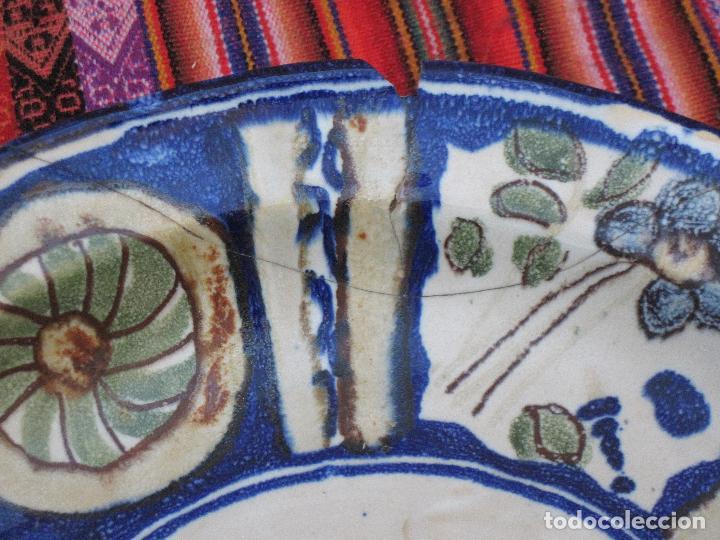 Antigüedades: PLATO ANTIGUO EN CERAMICA PINTADA Y VIDRIADA DE MANISES / VALENCIA. - Foto 6 - 118937487
