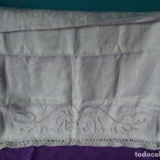 Antigüedades: 18-ANTIGUO CAMINO DE MESA GRANDE TELA ADAMASCADA. Lote 118946643