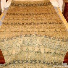 Antigüedades: PANEL DE CORTINA ANTIGUA EN ALGODON GRUESO.. Lote 118954755