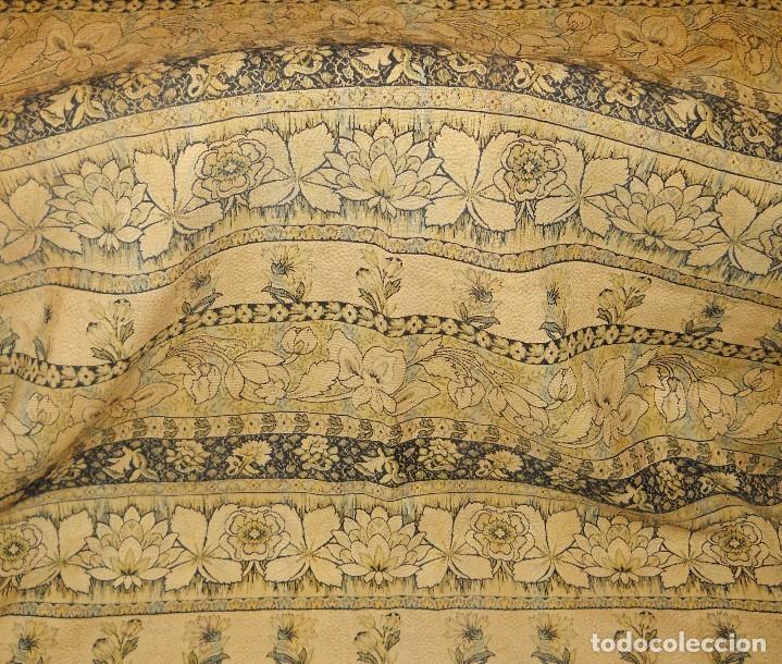 Antigüedades: panel de cortina antigua en algodon grueso. - Foto 2 - 118954755