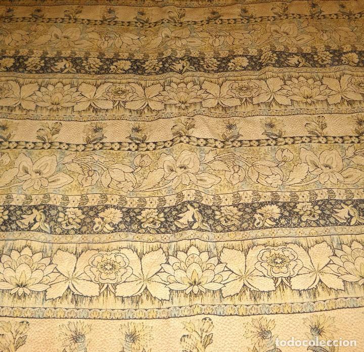 Antigüedades: panel de cortina antigua en algodon grueso. - Foto 3 - 118954755