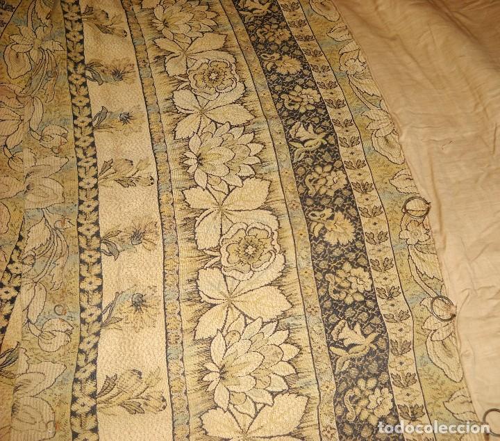 Antigüedades: panel de cortina antigua en algodon grueso. - Foto 4 - 118954755