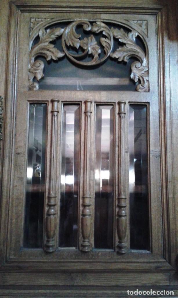 Antigüedades: APARADOR-BUFET ALFONSINO ROBLE TALLADO - Foto 6 - 118973207