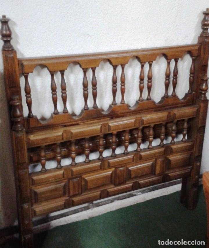 CABECERO CASTELLANO MADERA (Antigüedades - Muebles Antiguos - Camas Antiguas)